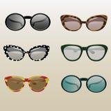 Inställd Retro solglasögon Fotografering för Bildbyråer