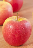inställda äpplen Royaltyfri Fotografi
