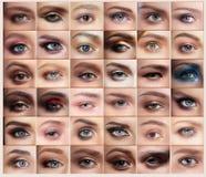 inställda ögon royaltyfria bilder