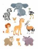 inställda afrikanska djur Royaltyfri Fotografi