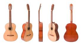 inställda akustiska klassiska gitarrer Arkivbilder