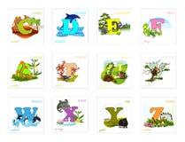 inställda alfabetbokstäver Royaltyfria Bilder
