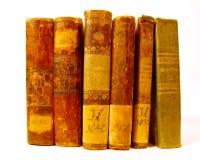 inställda antika böcker Royaltyfria Foton