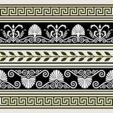 inställda antika kanter vektor illustrationer