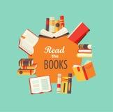 inställda böcker Arkivfoton
