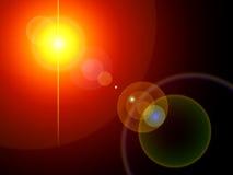 inställda bakgrundslampor Arkivfoto