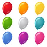 inställda ballonger Royaltyfri Fotografi