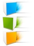 inställda baner vektor illustrationer