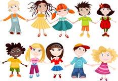 inställda barn stock illustrationer