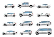 inställda bilar stock illustrationer