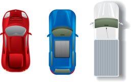 Inställda bilar Arkivbild