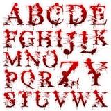 inställda blodiga isolerade bokstäver Royaltyfri Fotografi