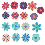 inställda blommor Arkivbild