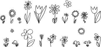 inställda blommor royaltyfri illustrationer