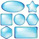 inställda blueknappsymboler Arkivfoto