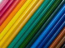 inställda blyertspennor Royaltyfri Fotografi