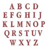 inställda bokstäver för alfabetchokladillustration Royaltyfria Foton