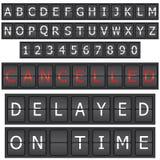 inställda bokstavsnummer Arkivfoton