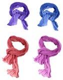 inställda bomullsscarfs Royaltyfri Foto