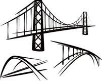inställda broar vektor illustrationer