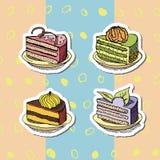 inställda cakes vektor illustrationer
