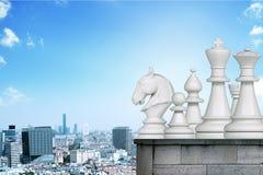 inställda chessmen Arkivbild