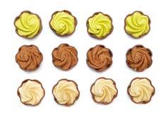inställda choklader Royaltyfri Bild
