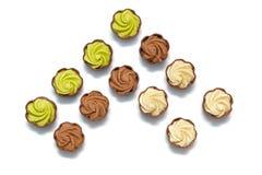 inställda choklader Royaltyfri Fotografi