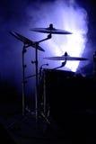 inställda cymbals Royaltyfria Bilder