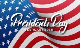 inställda dagsymbolspresidenter Baner för ferie för USA presidentdag USA royaltyfri illustrationer