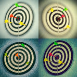 inställda dartboards royaltyfri fotografi