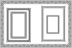 inställda dekorativa ramar Royaltyfria Bilder