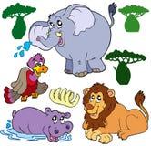 inställda djur för 1 afrikan Arkivbild