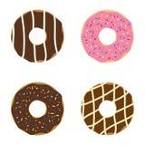 inställda donuts Royaltyfri Fotografi