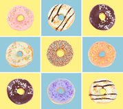 inställda donuts stock illustrationer