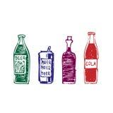 inställda drinkar Vektor Illustrationer