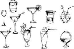 inställda drycker också vektor för coreldrawillustration Royaltyfri Bild