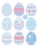 inställda easter ägg stock illustrationer