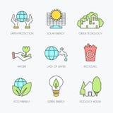 inställda ekologisymboler Arkivbilder