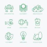 inställda ekologisymboler Fotografering för Bildbyråer