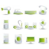 inställda elektriska symboler för anordningar royaltyfri illustrationer