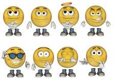 inställda emoticons 1 3d Royaltyfri Foto