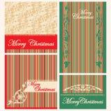 inställda etiketter för jul inbjudningar Vektor Illustrationer