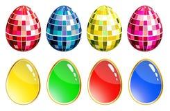 inställda färgrika ägg Arkivbilder
