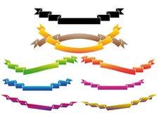 inställda färgrika band royaltyfri illustrationer