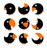 inställda fåglar Arkivfoto