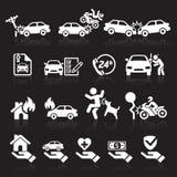 Inställda försäkringsymboler Arkivbilder