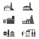 Inställda fabrikssymboler Royaltyfri Bild