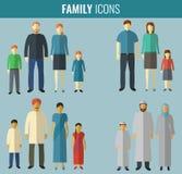 inställda familjsymboler Traditionell kultur vektor stock illustrationer