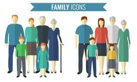 inställda familjsymboler Traditionell kultur vektor vektor illustrationer